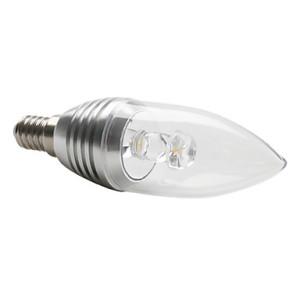 Lampadina led a candela luce bianca calda e14 3w 270 for Lampadina led 3w