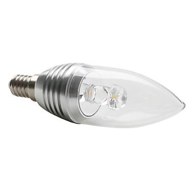 Lampadina led a candela luce bianca calda e14 3w 270 for Luce bianca led